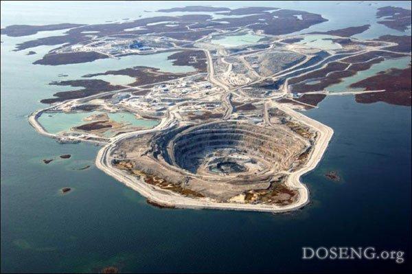 Алмазные шахты в Канаде (15 фото)