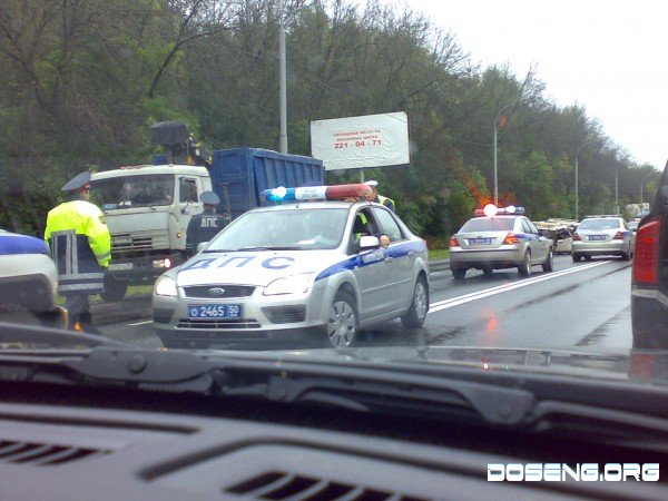 Авария с участием элитного 8-го отдела ДПС