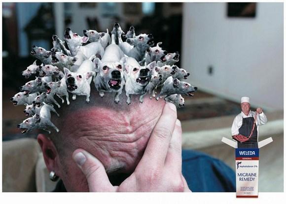 Забавная реклама препарата от мигрени