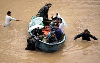 В Китае от наводнения пострадали 210 тысяч человек