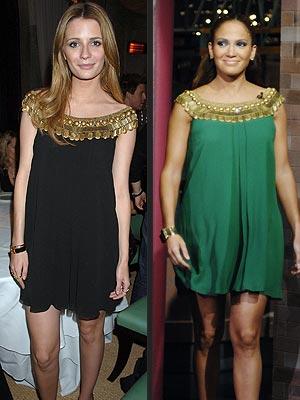 Разные знаменитости в одинаковых платьях (24 совпадения)