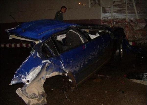 Жесткая авария с участием совсем молодого водителя