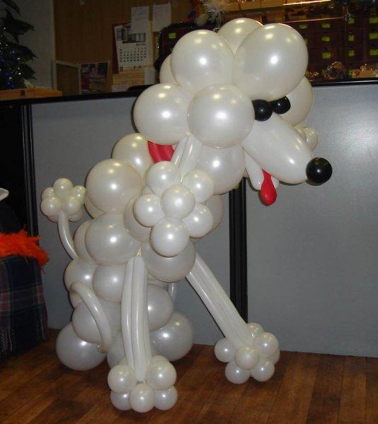 Штуки из шариков. Отличный подарок для ребенка и украшение детского праздника 1192188873_sobaka01