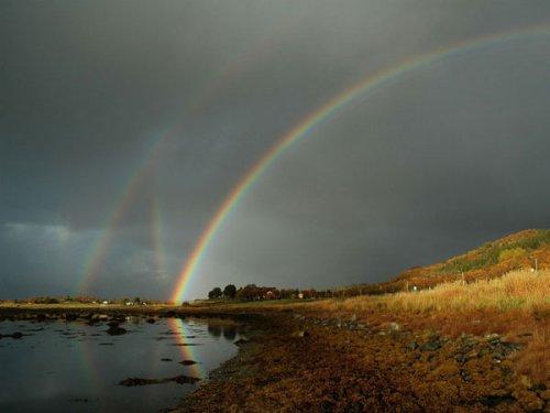 Сразу 6 радуг над Норвегией