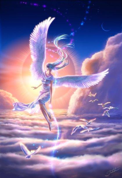 Женщина небеса жвтними