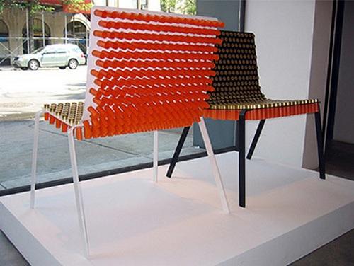 Кресло из патронов (6 фото)