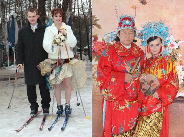Необычные свадебные наряды (13 фото)