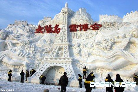 Фестиваль ледяных скульптур в Китае