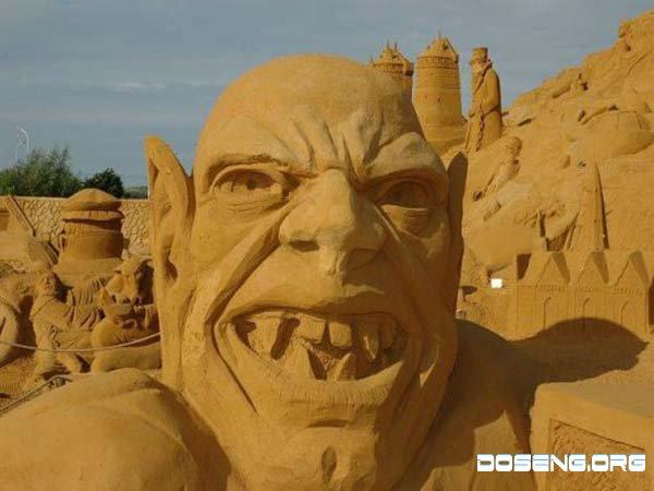 Песочные скульптуры 21 фото