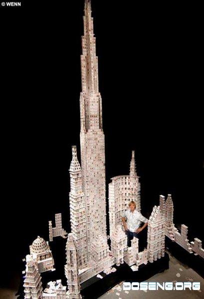 Самый высокий карточный домик в мире (14 фото + текст)