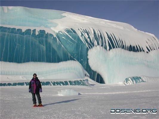 Уникальное нагромождение льда в Антарктике (18 фото)