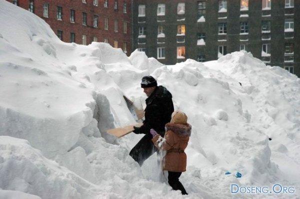в Норильске снег выпал (8 фото)