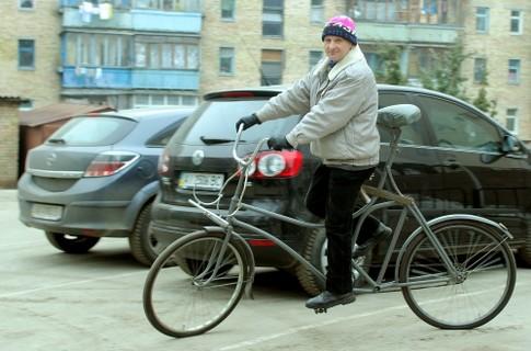 Велосипед для самого высокого человека в мире