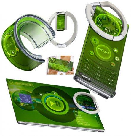 Мобильный телефон будущего Nokia Morph