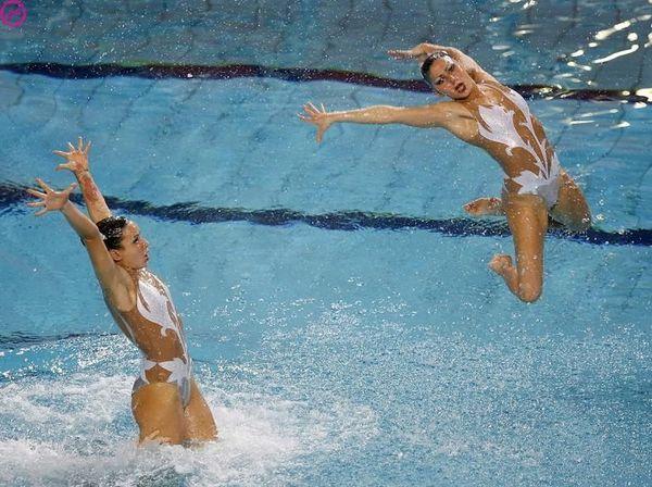 Водная гимнастика (15 фото)