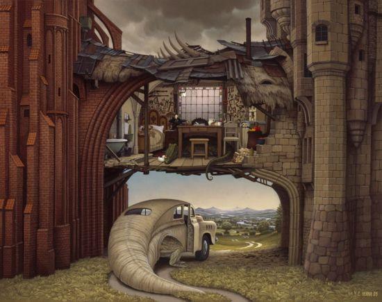 Запутанные рисунки художника Jacek Yerka просто ПОТРЯСАЮТ! Далее 17 картино ...
