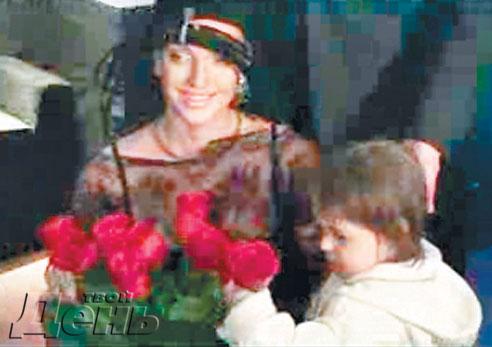 Волочкова вывела свою дочь в ночь
