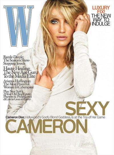 Белокурая бестия Кэмерон Диаз в майском журнале W