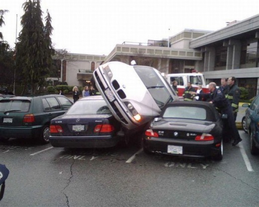 Я паркуюсь, как блондинко