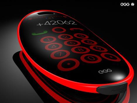 Мобильный телефон в виде яйца
