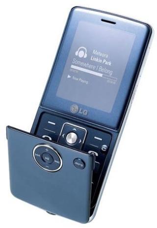 LG KM380 - музыкальный телефон с откидным флипом