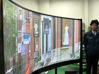 Изобретатель плазменных панелей показал гнущийся телевизор