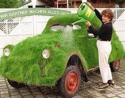 Зеленые машинки (14 фото)