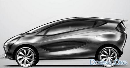 Официальный эскиз сити-кара Mazda1
