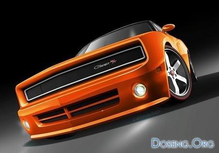Назад в будущее: футуристичное купе Dodge Charger