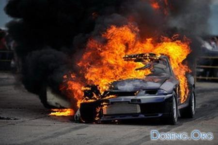 Сгорел Nissan SkyLine GTR