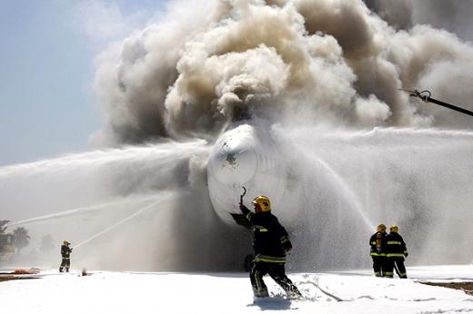Учения спасателей в аэропорту Бен-Гуриона