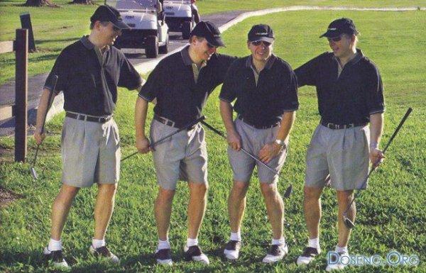 Как сходить в туалет на поле для гольфа? (4 фото)