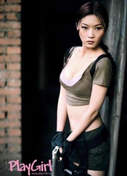 Лара Крофт, сделано в Китае (8 фото)