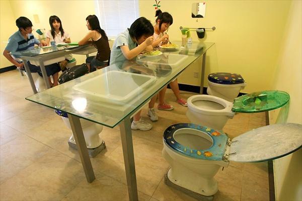 Современный китайский туалет-ресторан (Toilet Restaurant)