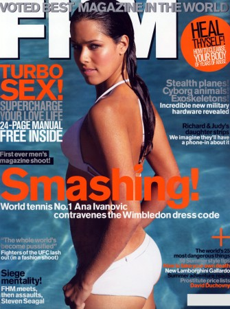 Сербская теннисистка Ana Ivanovic в британском FHM (август 2008)