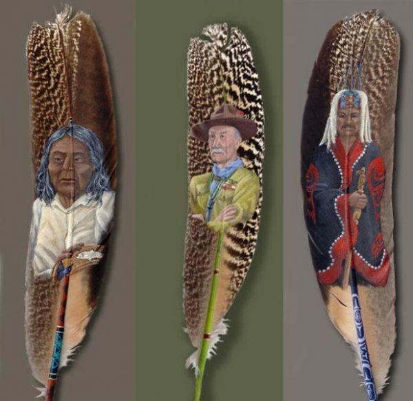 Роспись пера (9 фото)