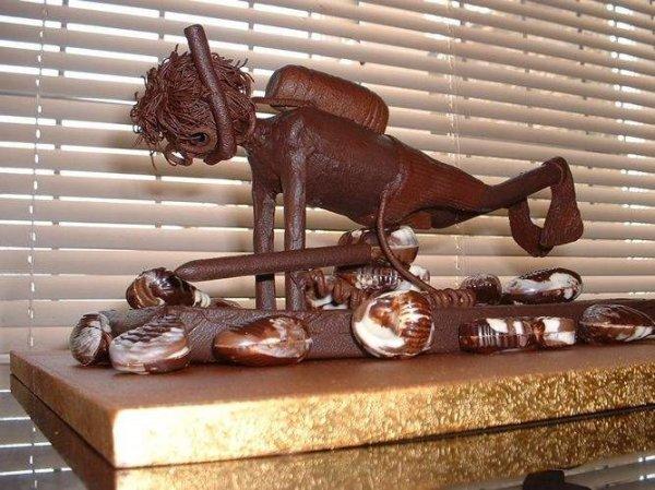 Произведения искусства из шоколода (15 фото)