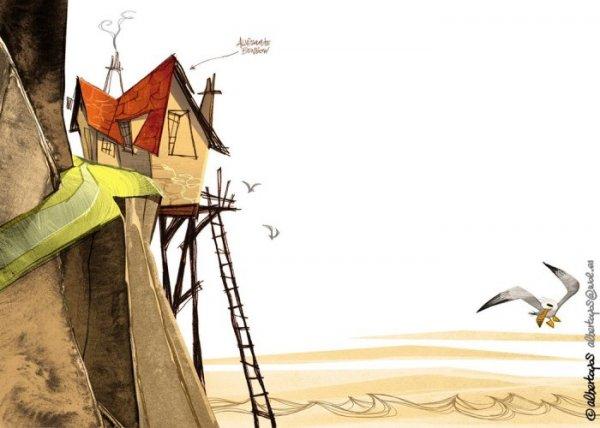 Иллюстрации к острову сокровищ (6 фото)