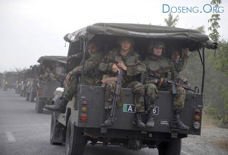 Грузино-осетинская граница под гусеницами танков