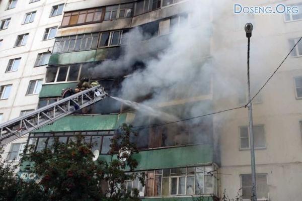 Ужасный пожар в Одинцово