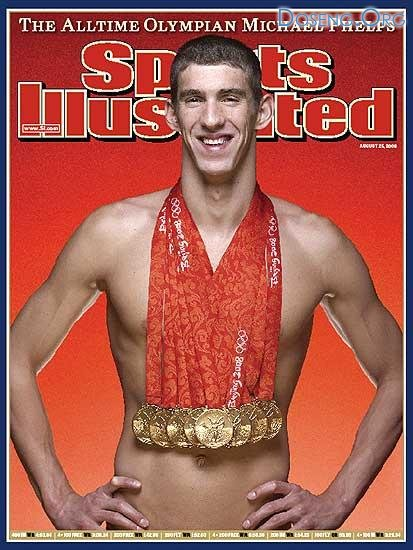 Майкл Фелпс (Michael Phelps) стал сенсацией Олимпиады-2008