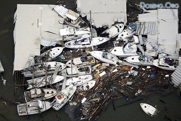 Штаты Техас и Луизиана: после удара урагана Айк