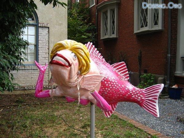 Странная рыба. Почтовый ящик? (3 Фото)