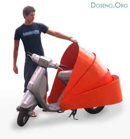 Защита вашего скутера от дождя и угонщиков
