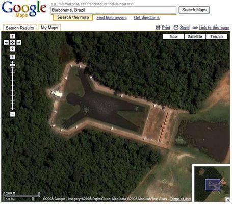 Картины которые видно со спутника