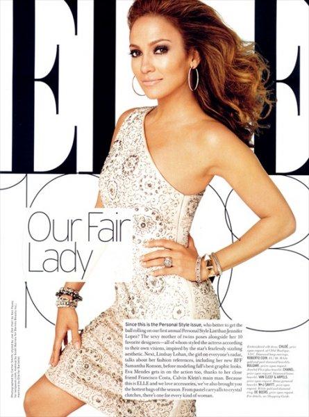 Дженнифер Лопес (Jennifer Lopez) в журнале ELLE