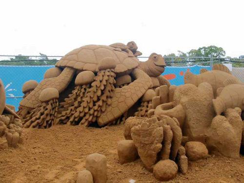 Великолепные постройки из песка