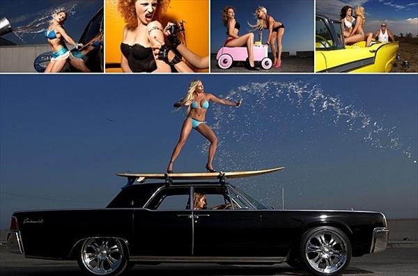 Календарь Hot Car Wash 2009: девушки на автомойке
