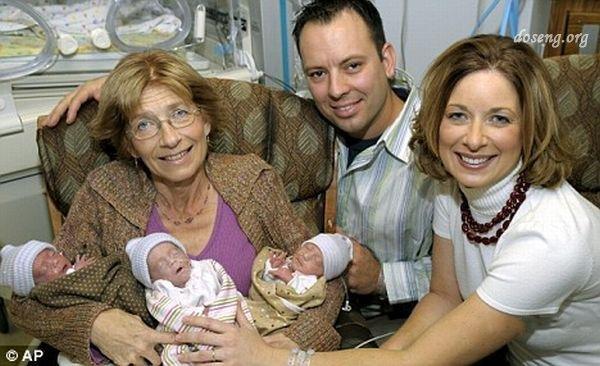 Родила себе трех внуков (3 фото)