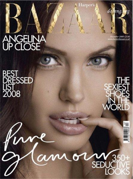 Анжелина Джоли в журнале Harper's Bazaar (4 фото)